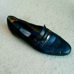 BRUNO MALGI Black Driving Shoes Loafers Size 10